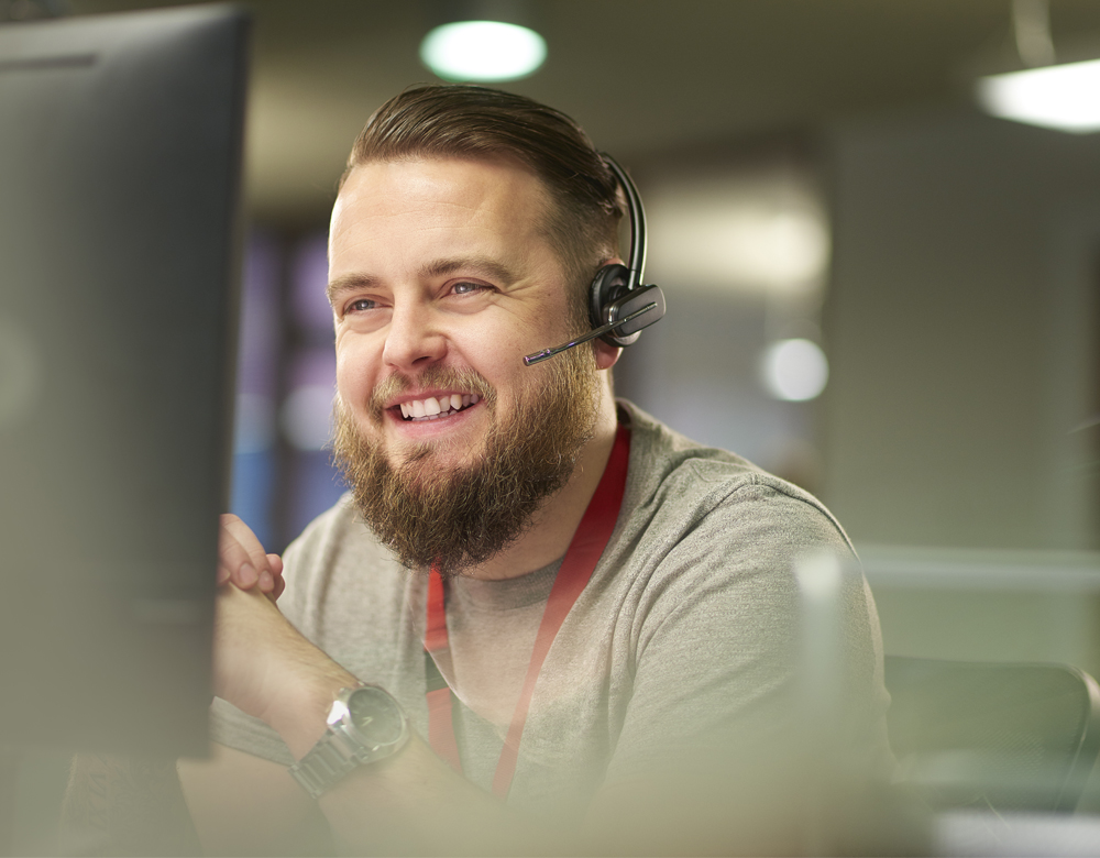 Energy Consultants, Man in a Call Centre