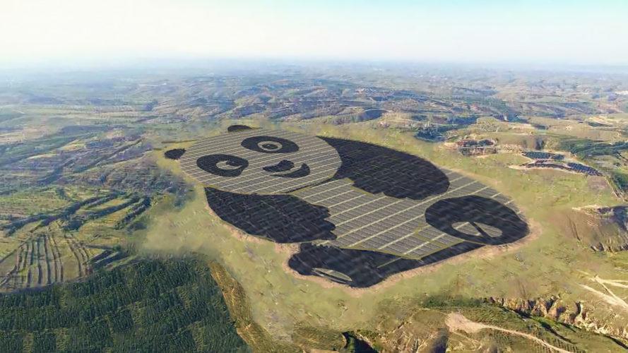 Panda Solar Farm in Datong, China