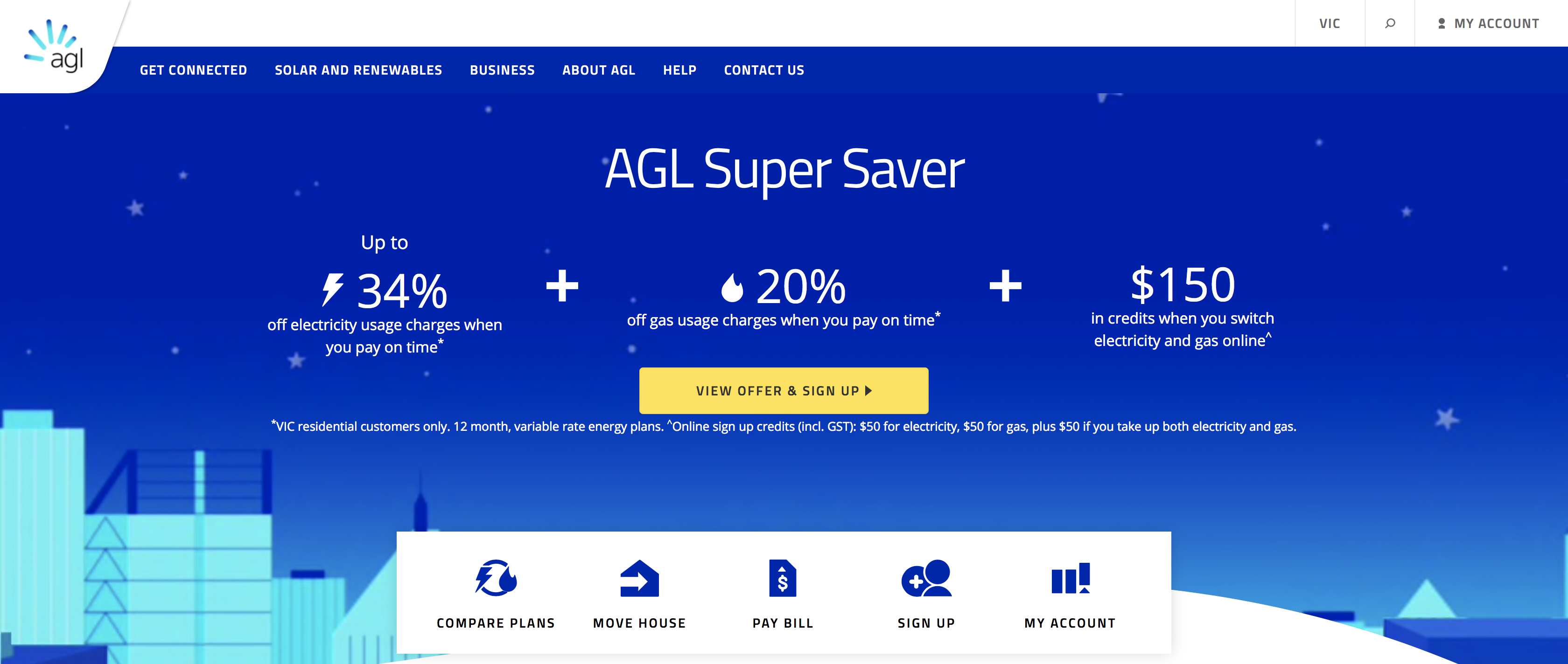 AGL Energy 34% Discount Screenshot June 2017