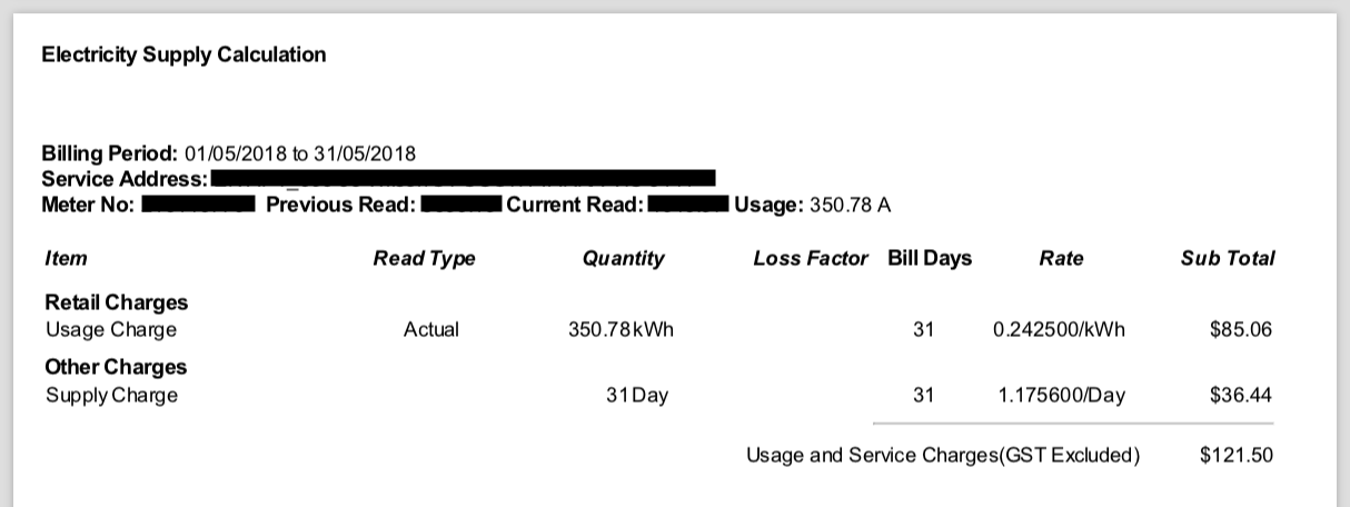 My Electricity Bill